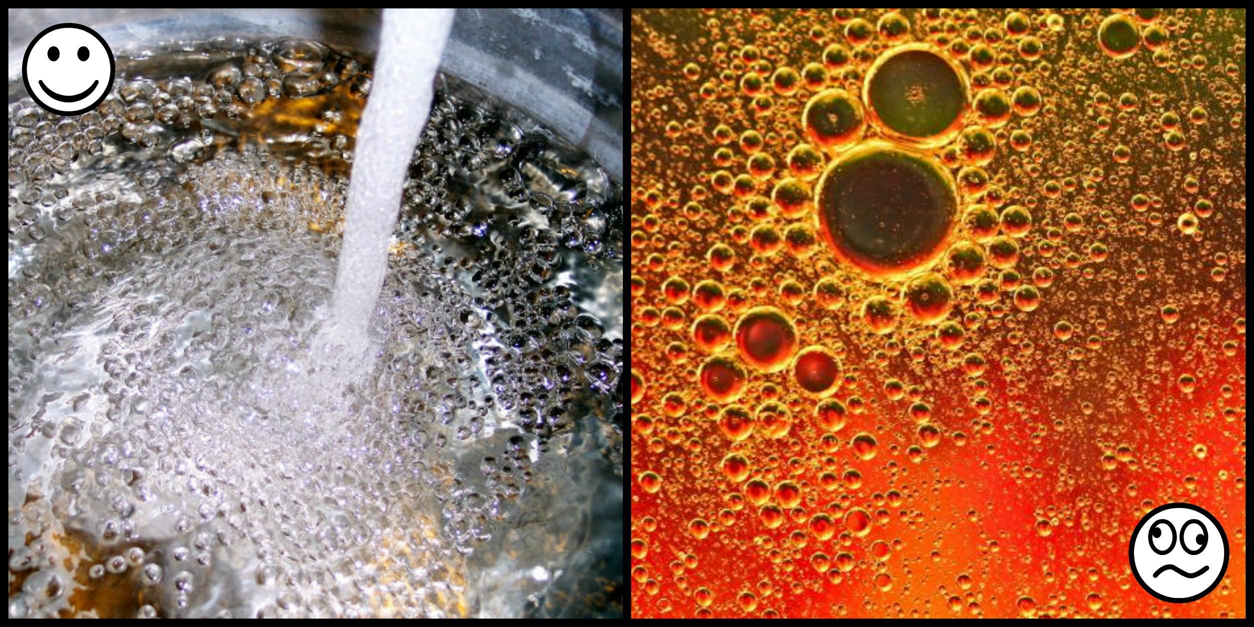 Vand versus olie